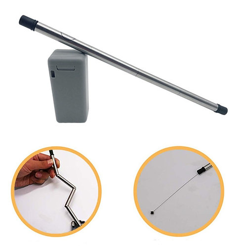 Stainless Steel collapsible, reusable straw with case