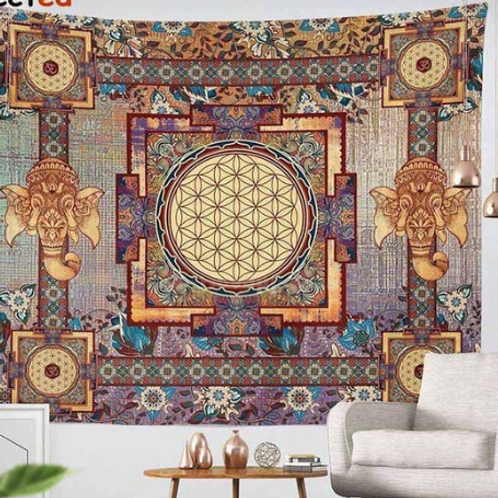 Beautiful Tapestry full of sacred geometry