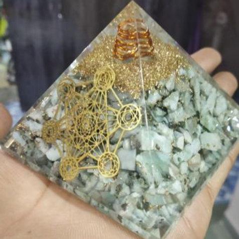 Larimar Orgone Pyramid