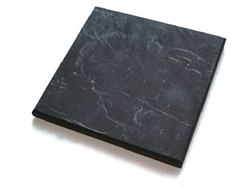 Shungite Stone Unpolished Tile 10x10cm (From Russia)