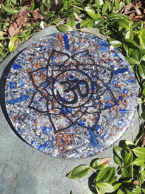 Lapiz Lazuli large Orgone charging plate