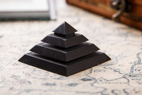Shungite Polished Sakara Pyramid (From Russia)