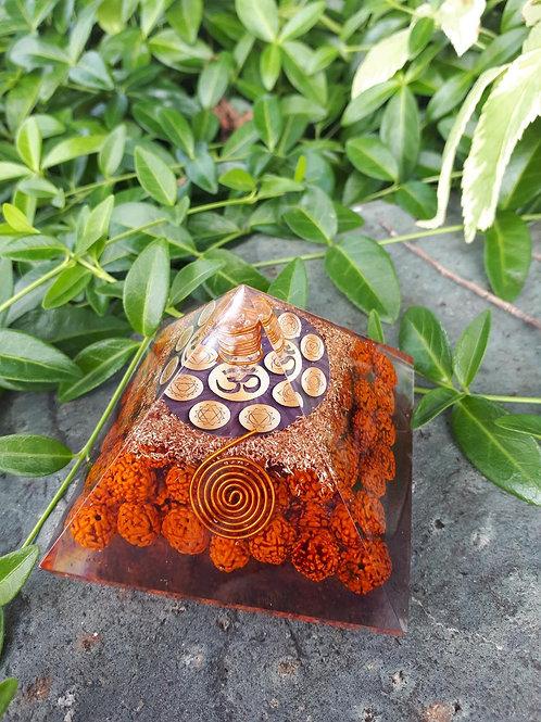 Rudraksha seed Orgone Pyramid