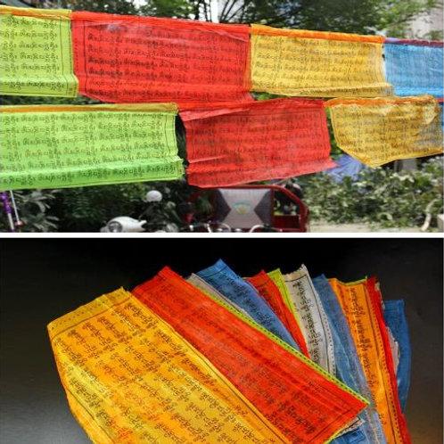Tibetan Buddhist Prayer Flag (25x15cm)