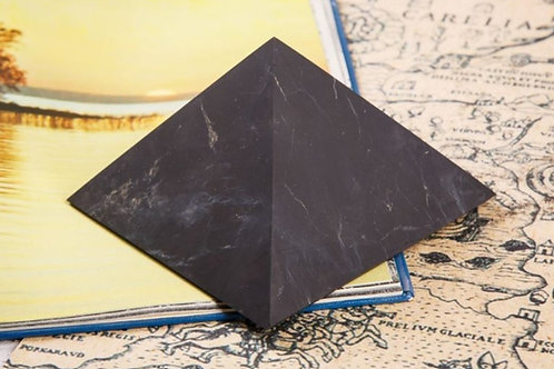 Unpolished Shungite pyramid (from Russia)