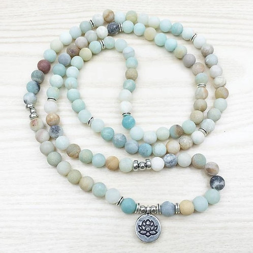 Amazonite Mala Bead Bracelet/Necklace 108 bead