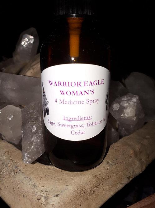 4 native medicines spray with Sage, Sweetgrass, Tobacco and Cedar - 60ml