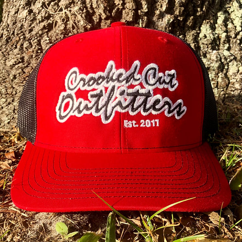 Split Red/Black- Richardson 112 Snap Back