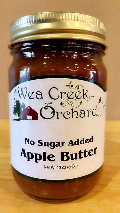 No sugar added apple butter