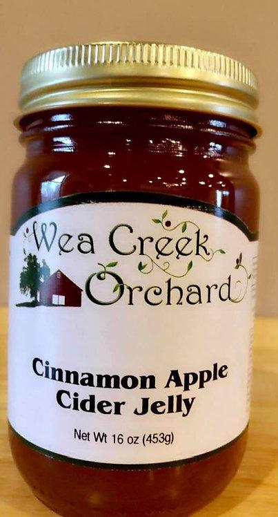 Cinnamon apple cider jelly