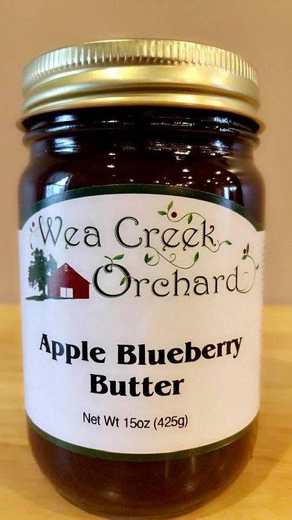 Apple blueberry butter