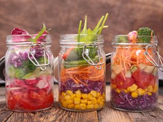 Sunday Night Salads-in-a-Jar