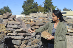 Selecting Material at Stone Yard