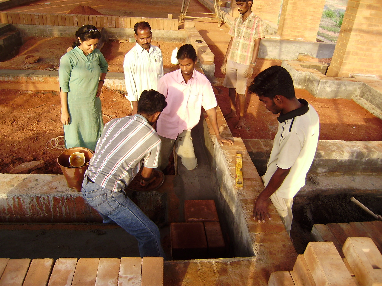 Trupti training construction workers