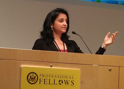 Trupti representing India at Professional Fellows Congress, Washington DC_edited