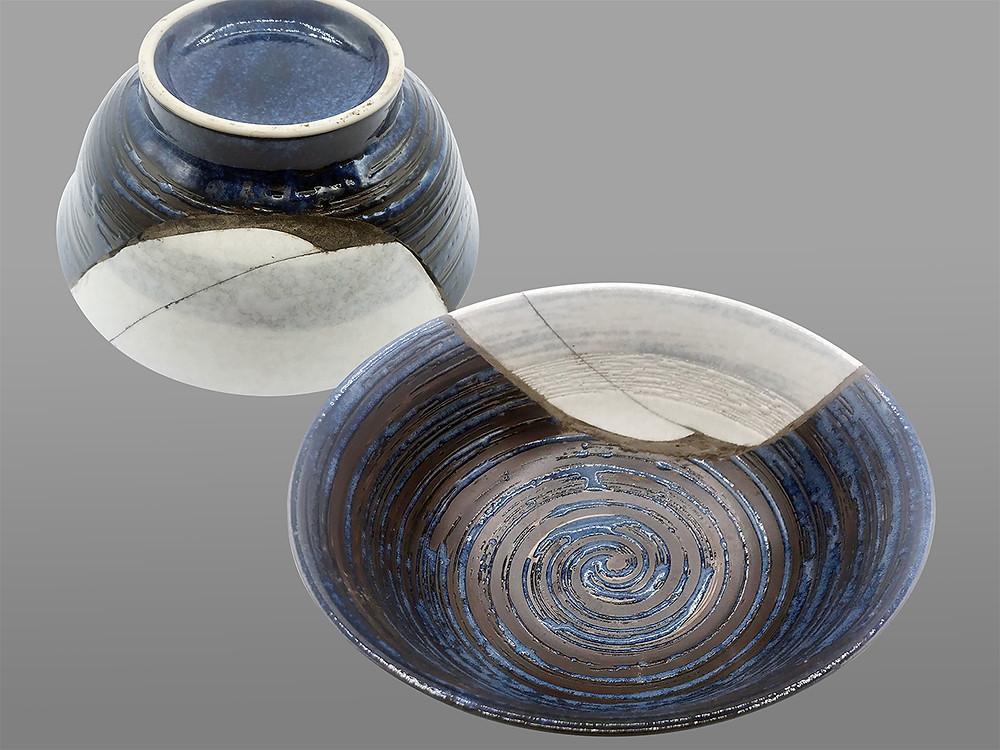 Intérieur Exterieur du bol Yobitsugi