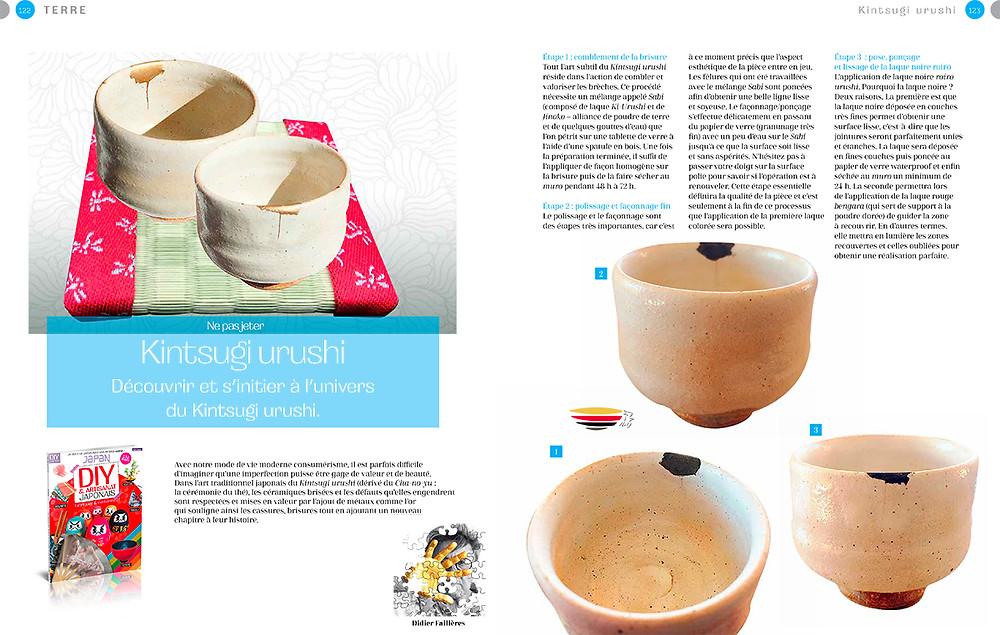 Découvrir le tutoriel kintsugi urushi dans le magazine des passionnés du Japon