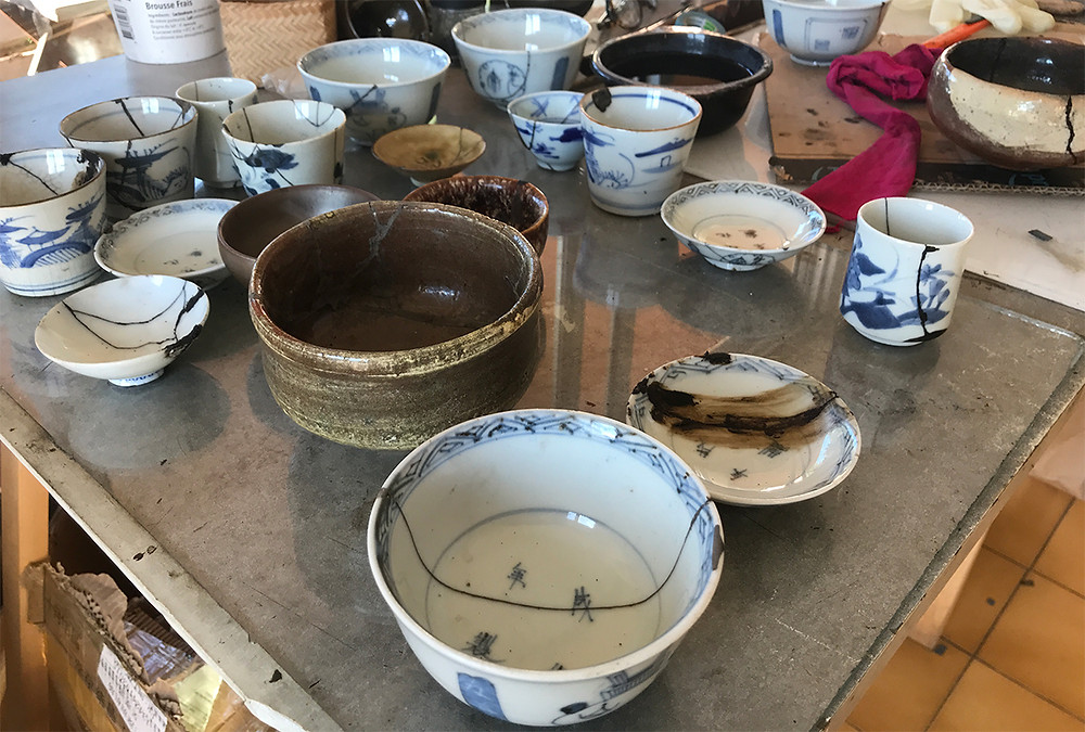 I found plenty of small cups, saucers, bowls, chawan, raku etc