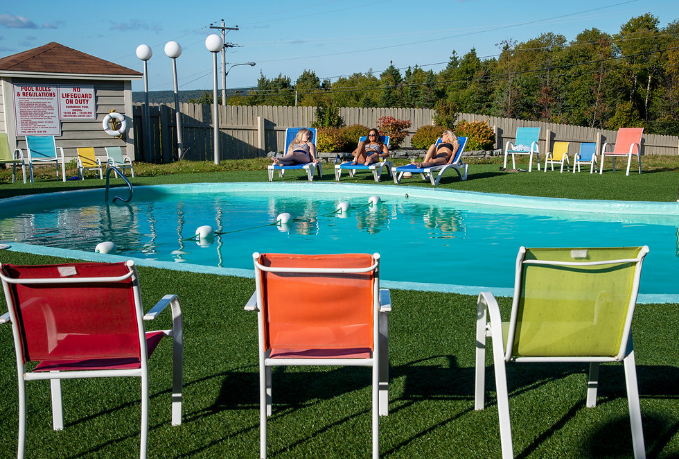 Pool Area at The Clarenville Inn