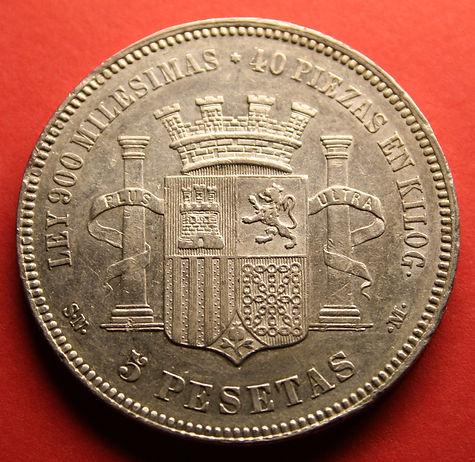 5 pesetas Gobierno Provisional 1870 C9fa52_2510bb6488d54befa5d114ad084f8259