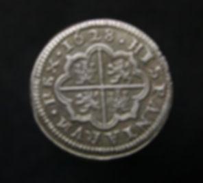2 reales Felipe IV 1628 Segovia Real Ingenio