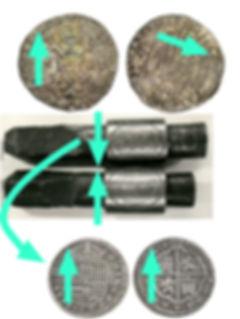 Acuñación a martillo y a molino
