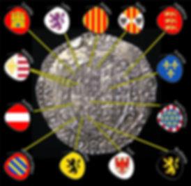 Escudo de armas de Felipe II como rey de Inglaterra