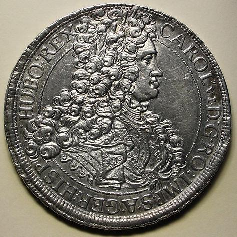 Taler Carlos III pretendiente Viena Carol VI wien thaler