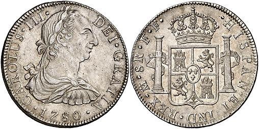8 reales Carlos III México 178