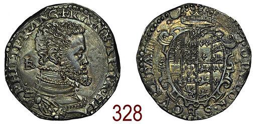 Mezzo ducato Filippo II Spagna Napoli