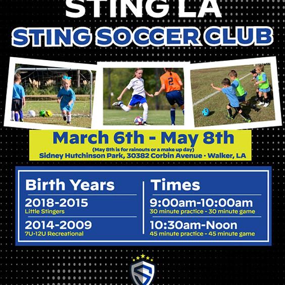 Sting LA Little Stingers - Sidney Hutchinson Park