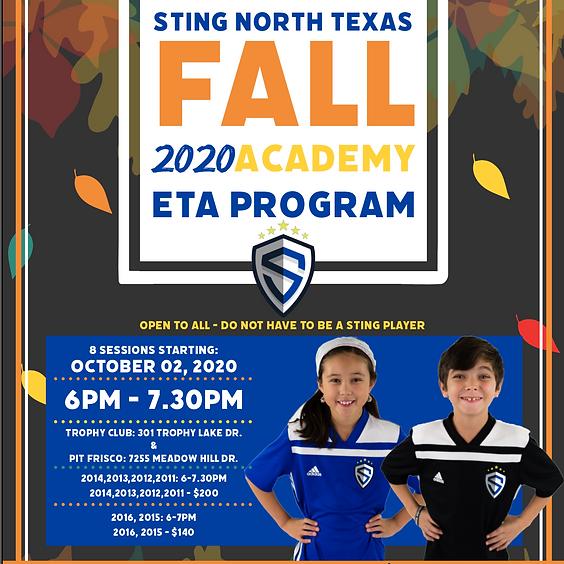 North Texas Fall 2020 Academy ETA Program