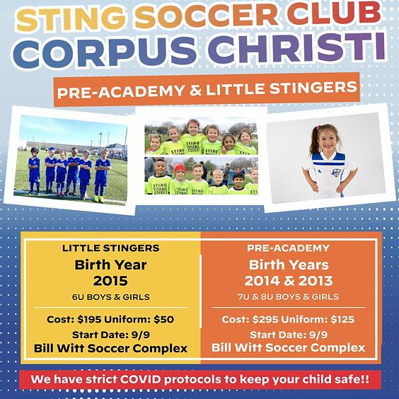 Sting Corpus Little Stingers 10 Week Program
