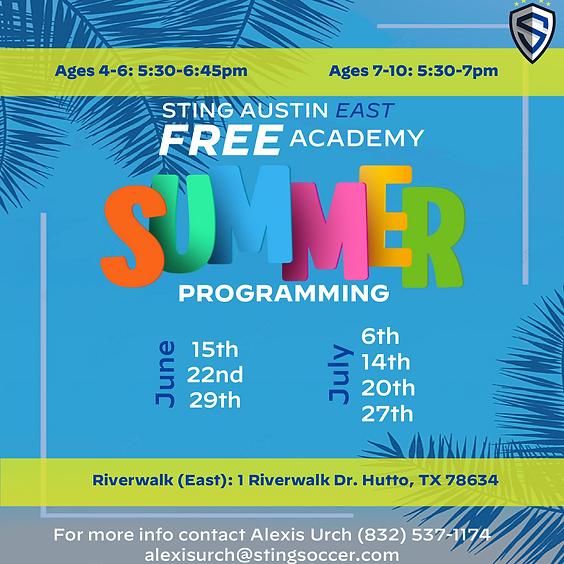 FREE Academy Summer Programming - EAST