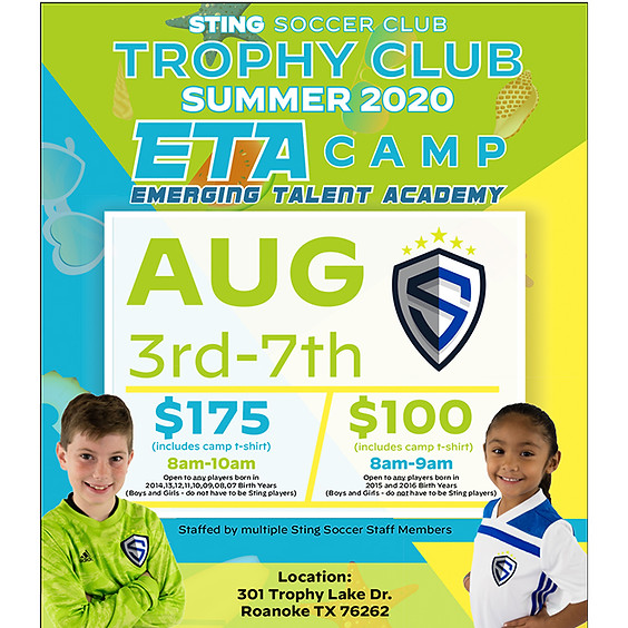 Trophy Club Summer 2020 ETA Camp