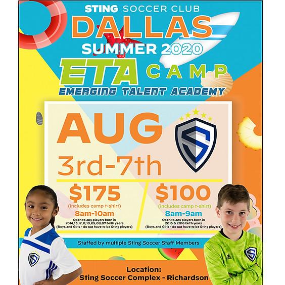 Dallas Summer 2020 ETA Camp