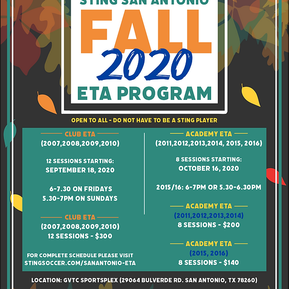 San Antonio Fall 2020 ETA Program