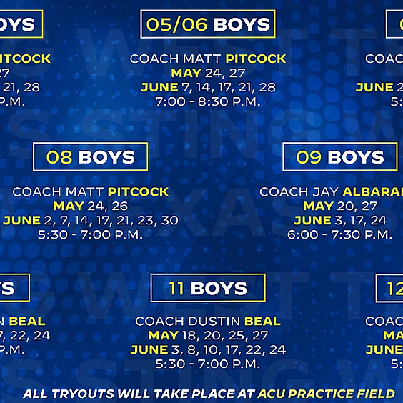West Texas Boys Tryouts