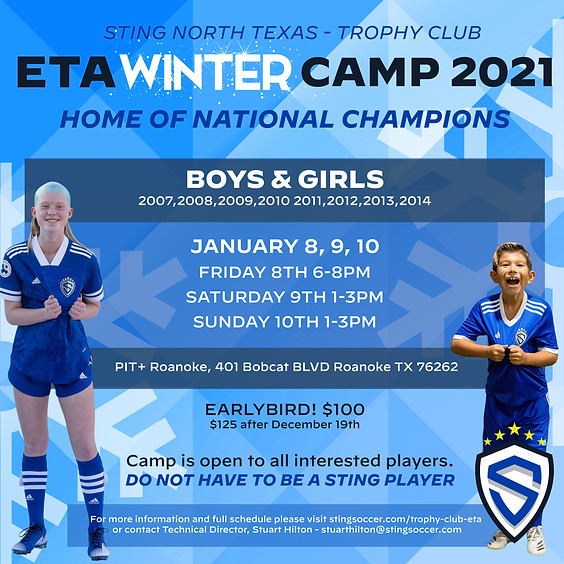 Sting North Texas ETA Winter Camp - Trophy Club