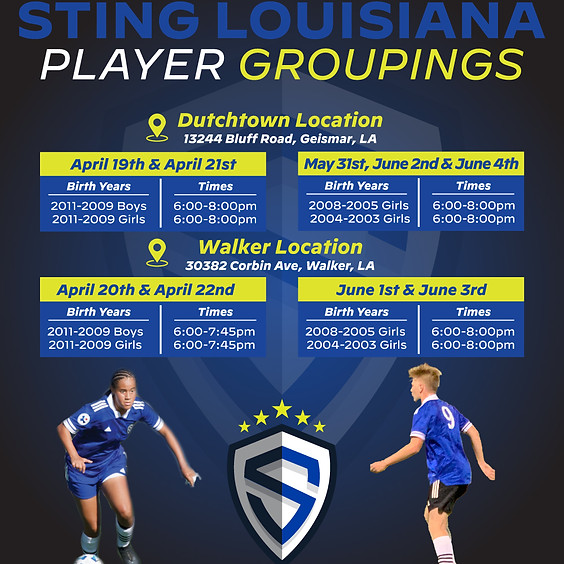 Sting LA Player Groupings - 2 Locations
