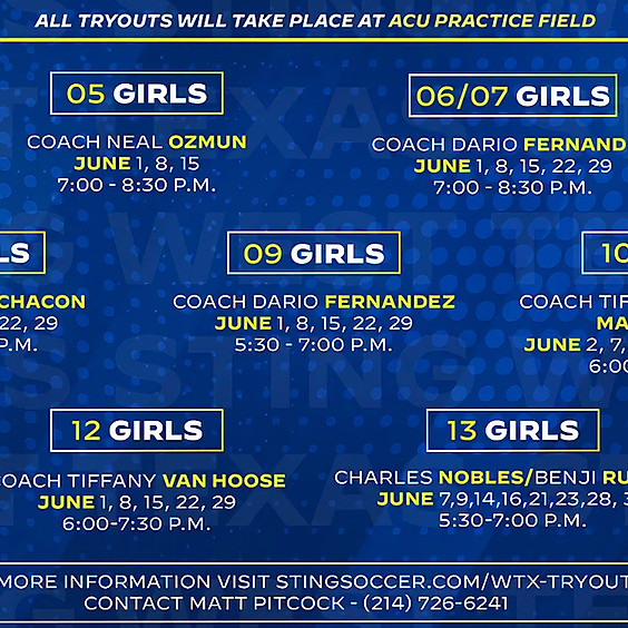 West Texas Girls Tryouts