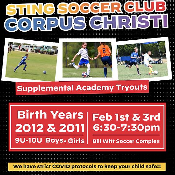 Sting Corpus Christi Academy Tryouts
