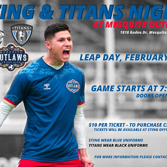 Sting & Titans Night at Mesquite Outlaws