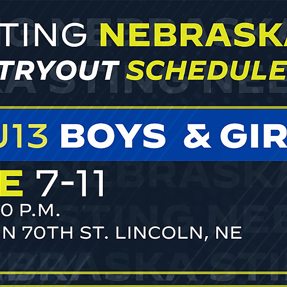 Nebraska U14-U15 Tryouts