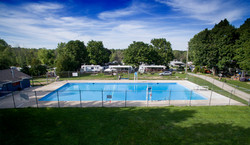 Olympia Village PoolAerial1