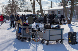 Lots of production equipment