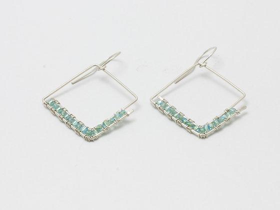 Crystal diamond dangles