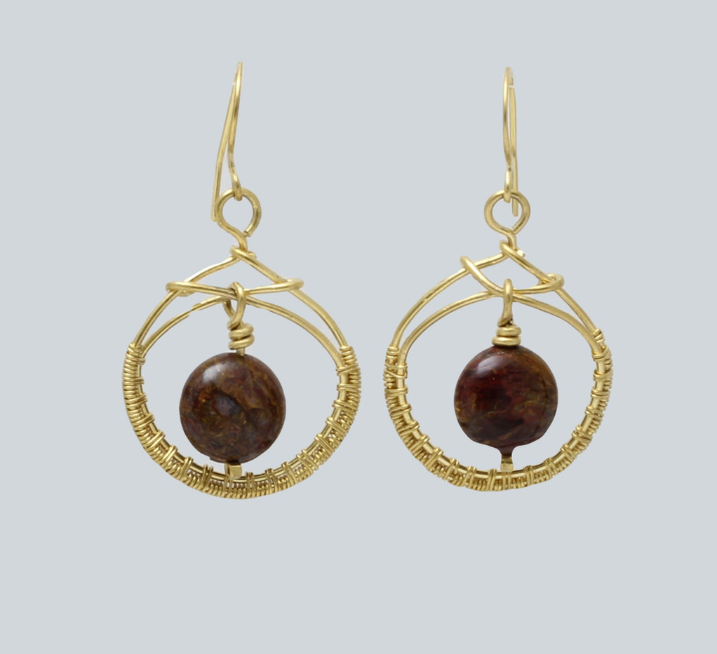 bronzite in brass weave