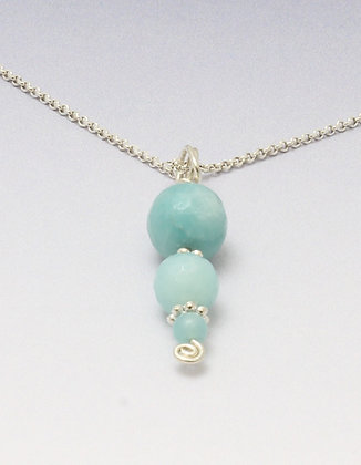 Faceted Amazonite pendant