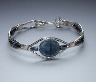 Kyanite in sterling arches